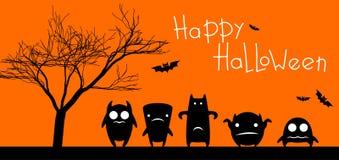 Carta divertente di Halloween dei mostri Fotografia Stock