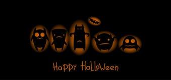 Carta divertente di Halloween dei mostri Fotografie Stock