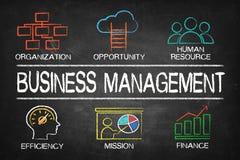 Carta do conceito da gestão empresarial fotos de stock