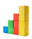 Carta do diagrama da cor de blocos de madeira foto de stock royalty free