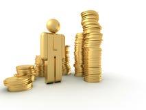 Carta do dinheiro Imagens de Stock Royalty Free