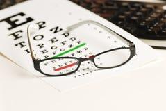 Carta do exame de olho Fotografia de Stock Royalty Free
