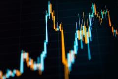 Carta do gráfico do castiçal do negócio da troca do investimento do mercado de valores de ação Imagens de Stock