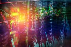 Carta do gráfico da troca do investimento do mercado de valores de ação fotografia de stock royalty free