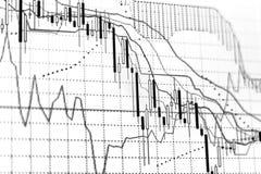 Carta do gráfico da troca do investimento do mercado de valores de ação fotos de stock