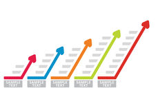 Carta do gráfico de negócio Fotos de Stock Royalty Free