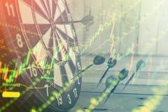 Carta do gráfico dos estrangeiros da troca do investimento do mercado de valores de ação Imagem de Stock