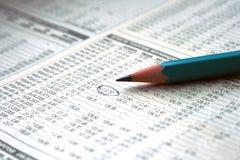 Carta do lápis e do estoque Imagens de Stock