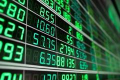 Carta do mercado de valores de ação fotos de stock