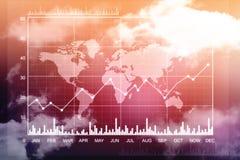 Carta do mercado de valores de ação Fundo do gráfico de negócio Foto de Stock Royalty Free