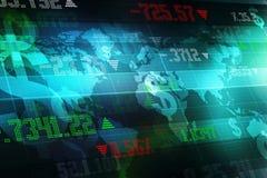 Carta do mercado de valores de ação Fundo do gráfico de negócio Imagens de Stock Royalty Free