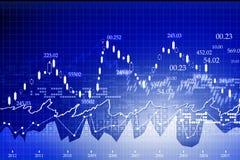 Carta do mercado de valores de ação ilustração royalty free