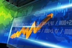 Carta do mercado de valores de ação ilustração do vetor