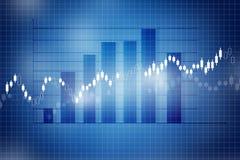 Carta do mercado de valores de ação Fotografia de Stock