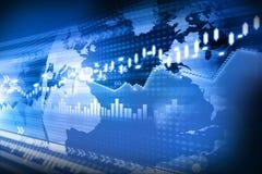 Carta do mercado de valores de ação Foto de Stock Royalty Free
