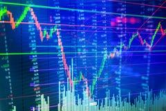 Carta do mercado de valores de ação fotos de stock royalty free