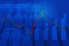 Carta do mercado de valores de ação com o mapa no fundo da cidade, elementos deste Imagens de Stock Royalty Free