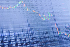 Carta do mercado de valores de ação, dados do mercado de valores de ação Imagens de Stock
