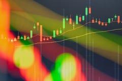 Carta do mercado de valores de ação, dados do mercado de valores de ação Imagem de Stock