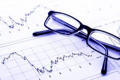 Carta do mercado de valores de acção Fotos de Stock