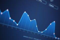 Carta do salário de negócio no tela de computador Fotografia de Stock