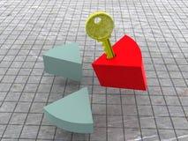 Carta e chave. Imagens de Stock Royalty Free