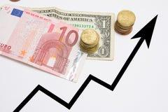 Carta e contas de crescimento Imagem de Stock Royalty Free