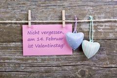 Giorno del ` s del biglietto di S. Valentino Fotografia Stock