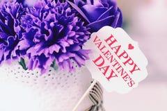Carta e decorazione di giorno del ` s del biglietto di S. Valentino Fotografia Stock