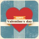Carta e fondo felici di San Valentino Fotografie Stock