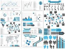 Carta e gráfico de elementos de Infographic Imagem de Stock Royalty Free