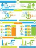 Carta e gráfico de elementos de Infographic Foto de Stock