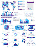 Carta e gráfico de elementos de Infographic Imagens de Stock