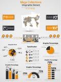 Carta e gráfico de elementos de Infographic Imagens de Stock Royalty Free