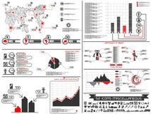Carta e gráfico de elementos de Infographic robóticos Fotografia de Stock Royalty Free