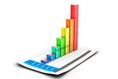 Carta e gráfico de negócio Imagem de Stock