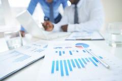 Carta e gráfico Fotografia de Stock