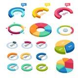 Carta e isométrico gráfico, finanzas de los datos del diagrama del negocio, informe del gráfico, estadística de los datos de la i Foto de archivo