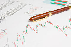 Carta e números Imagem de Stock Royalty Free