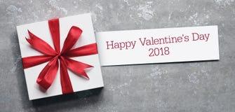 Carta e regalo di giorno del ` s del biglietto di S. Valentino Fotografia Stock Libera da Diritti