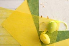 Carta ed uova di Pasqua decorative Fotografie Stock Libere da Diritti