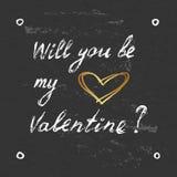 Carta elegante dei biglietti di S. Valentino Fotografie Stock Libere da Diritti
