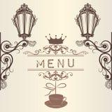Carta elegante della struttura, del menu o dell'invito per progettazione Fotografie Stock