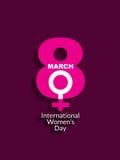 Carta elegante di Giornata internazionale della donna royalty illustrazione gratis