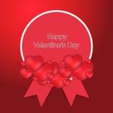 Carta elegante felice di giorno di biglietti di S. Valentino nuova Immagine Stock