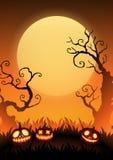 Carta ENV 10 del manifesto dell'insegna di Halloween fotografia stock libera da diritti