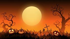 Carta ENV 10 del manifesto dell'insegna del sito Web di Halloween immagini stock libere da diritti