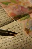 Carta-escritura Fotos de archivo libres de regalías