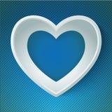 Carta felice 3D di amore di giorno di S. Valentino del cuore di vettore Immagine Stock