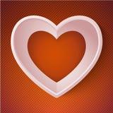 Carta felice 3D di amore di giorno di S. Valentino del cuore di vettore Fotografia Stock Libera da Diritti